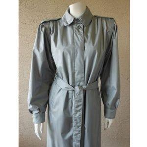 Weather Wise Silver Gray Coat Rain Resistant VTG